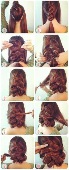romantyczna fryzura i rude włosy