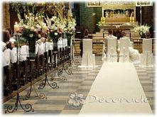 dekoracja ślubna kościoła