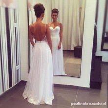 sukienka ślubna bez pleców