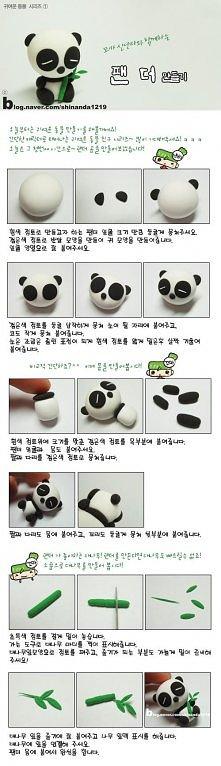 diy, diy projects, diy craft, handmade, diy ideas, diy clay chinese panda