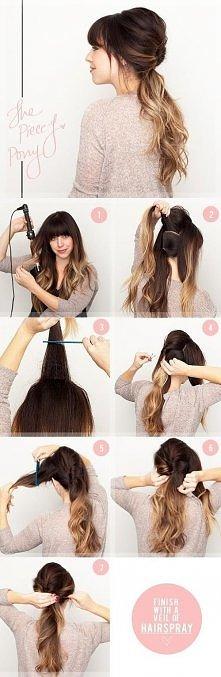 fashion, diy fashion projects, diy fashion ideas, diy fashion tips,  diy piece-y pony hairstyle