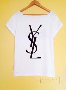 YSL koszulka ręcznie malowa...