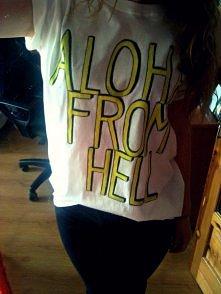 ALOHA FROM HELL koszulka ręcznie malowana VILE STUFF
