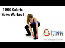 Fitness Blender 1000 Calorie Workout at Home-HIIT Cardio, Total Body Strength Training + Stretch