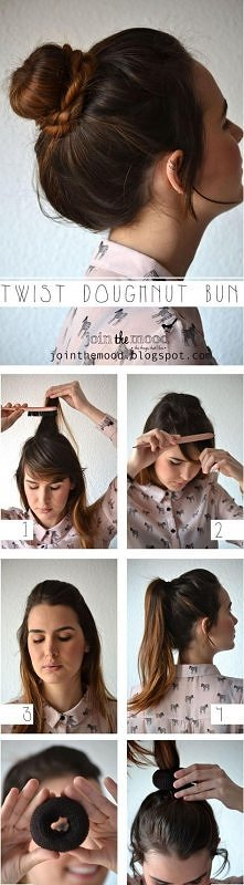 diy, fashion, diy fashion projects, diy fashion ideas, diy fashion tips, diy ideas, diy twist doughnut hairstyle