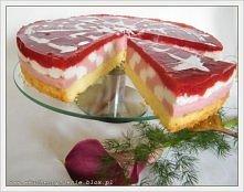 Tort jogurtowo-truskawkowy  (przepis po kliknięciu w zdjęcie).
