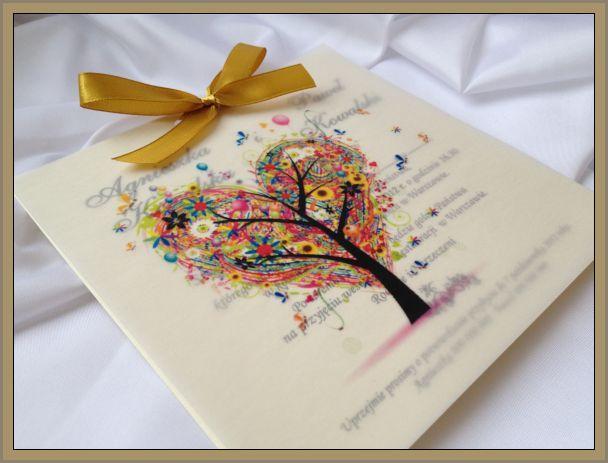 zaproszenia ślubne z kalką :P nietypowe :)