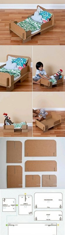 diy, diy projects, diy craft, handmade, diy ideas, diy cardboard bed