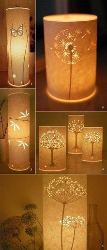 lampki z papieru
