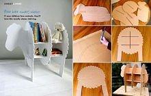 diy, diy projects, diy craft, handmade, diy ideas, diy sheep bookshelves