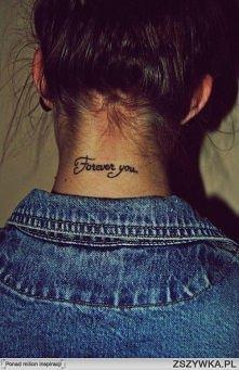Tatuaże na szyi <3