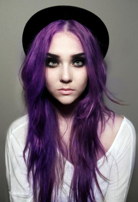 Girls With Light Purple Hair Tumblr fioletowe włos...