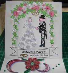 kartka sztalugowa na ślub