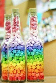 butelki z gwiazduniową tęczą
