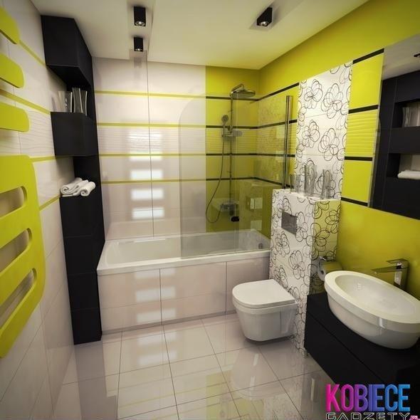 Limonkowa łazienka Na Home Sweet Home Zszywkapl