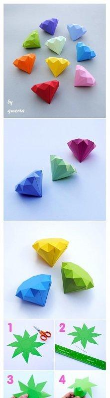 papierowe diamenciki można zamiennie stosować z gwiazdkami