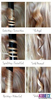3 sposoby kręcenia włosów!!