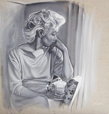 Zamyślona Marilyn