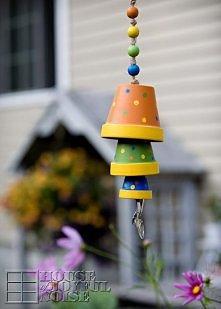 wietrzny dzwonek z doniczek