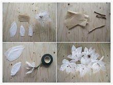 kwiatki z cienkiej bibuły