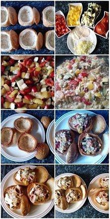 jajecznica w bułeczkach :) smacznego