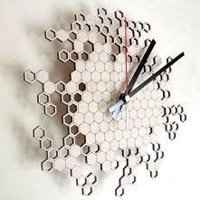 Honeycomb Clock Original by Asymmetree