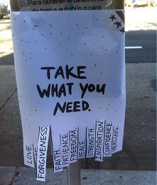Take what you need.
