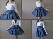 ★ Rozkloszowna spódnica baroque asymetryczna bluzka DIY ★ wejdź i zobacz więcej