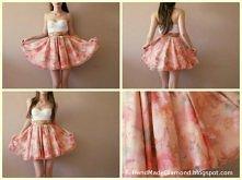 ✄ DIY spódnica floral bralet gorset sukienka ★ wejdź i zobacz więcej