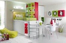 kolorowy pokój w którym zmieści się wszystko;P