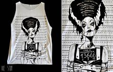 koszulka ręcznie malowana i przerobiona ;)