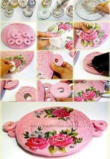 diy, diy projects, diy craft, handmade, diy ideas, diy rolled paper tray