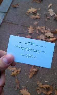 wizytówka dla nieznajomej