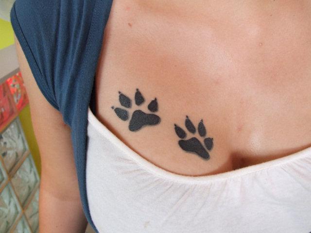 2 Kocie łapki Mrr D Na Tatuażee Zszywkapl