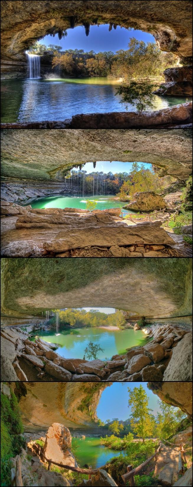 Piękne Jezioro Hamilton Pool   37 km na zachód od Austin (Texas, USA) znajdu...