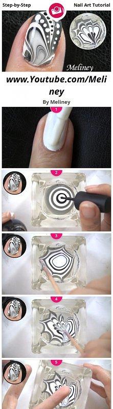 diy coool tie dye nails :)