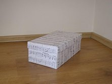 pudełko w nutki