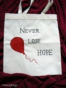 """""""Never lose hope"""" - eko torba ręcznie malowana."""