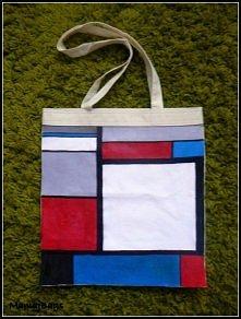"""""""Inspirowany Mondrian"""" - jeśli jesteś zainteresowana zakupem torby ..."""