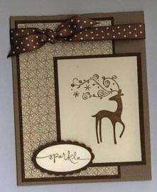 Kartka renifer świąteczna