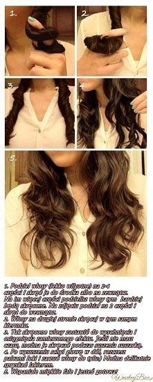 Kręcone włosy bez niszczenia i ciepła!