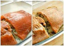 ŁOSOŚ ZE SZPINAKIEM * dwie duże porcje 2 filety łososia (u mnie ok. 280g każd...
