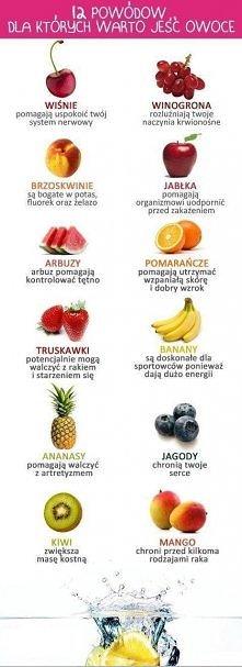 12 powodów dlaczego warto jeść owoce. ZAPRASZAM NA: fashioncookin.blogspot.com