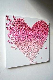 Serce z motylków