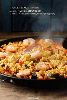 Paella z kurczakiem, warzyw...