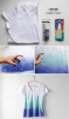 diy cieniowany t-shirt - śliczny!!