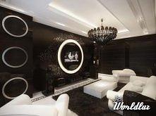 Te wnętrza zostały zaprojektowane przez designerów z moskiewskiego Geometrix. Nowoczesny apartament urządzono w stylu glamour. Paleta barw ogranicza się do bieli czerni, dzięki ...
