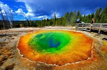 Jezioro Morning Glory Rainbow Pool, Park Yellowstone