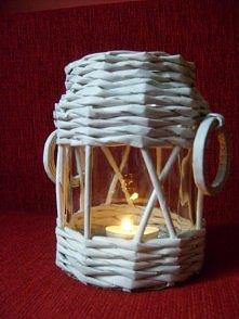 Papierowa wiklina - lampion