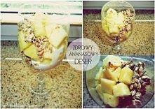 """""""Skład: - Ananas ( 1 i pół ) - Łyżeczka miodu, płatków owsianych, słonec..."""